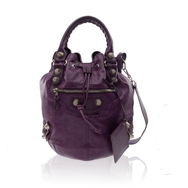 Motocross Giant 12 Mini Pompon Bag by BALENCIAGA   StyleTribute.com bb47257a24