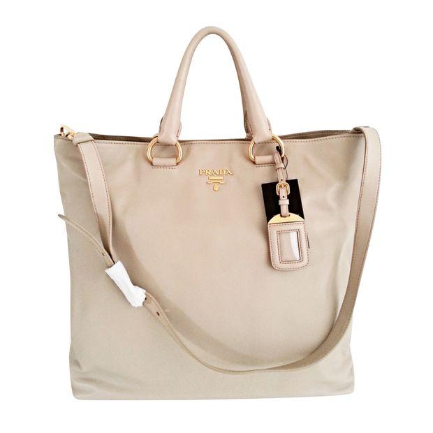 Prada Vitello Daino Shopping Tote Bag by PRADA   StyleTribute.com 9111818b87