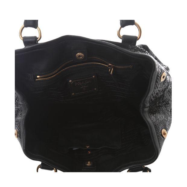 PRADA Tessuto And Patent Snakeskin Handbag 5 thumbnail 8fb45fdc20