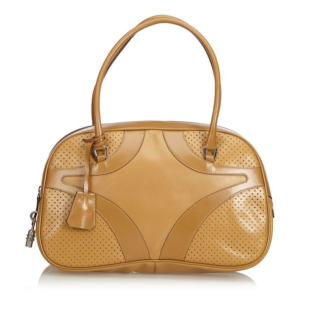 Perforated Leather Shoulder Bag by PRADA  be8e38d6d6dc4