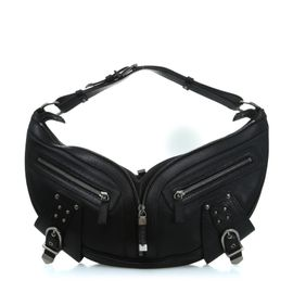 c338dc518b3 Black Leather Men s Sling Bag by VERSACE   StyleTribute.com