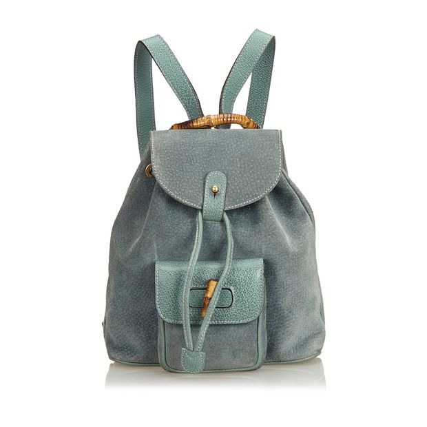 bbea17c54280 Bamboo Suede Drawstring Backpack by GUCCI
