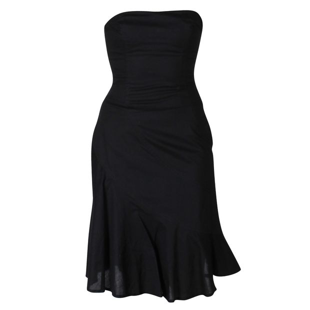 Black Strapless Dress By Bcbgmaxazria Styletribute
