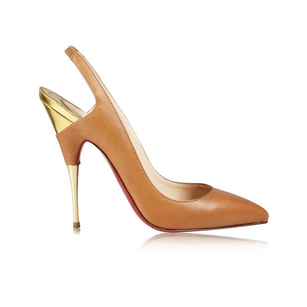 5dfc58ca363 Brown Leather Pumps by CHRISTIAN LOUBOUTIN
