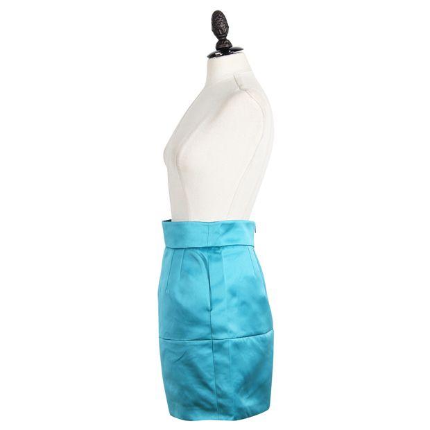 Teal Mini A-Line Skirt by EMPORIO ARMANI  53c2134b5