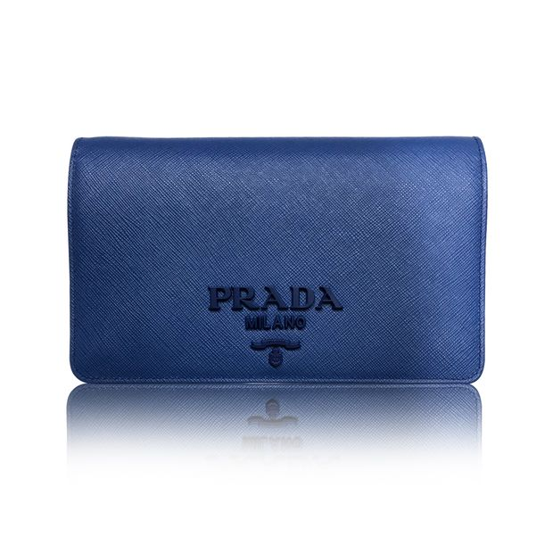 3cddd0881769 PRADA Saffiano Lux Wallet on Chain WOC Sling Bag Clutch Purse 0 thumbnail