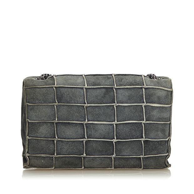 Gray Dark Suede Leather Reissue 225 Patchwork Flap Bag France