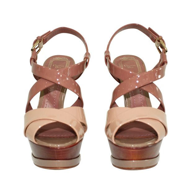 Nude Patent Strappy Sandals