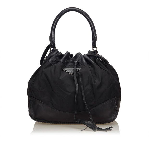 0995a27d1b Nylon Drawstring Shoulder Bag by PRADA | StyleTribute.com