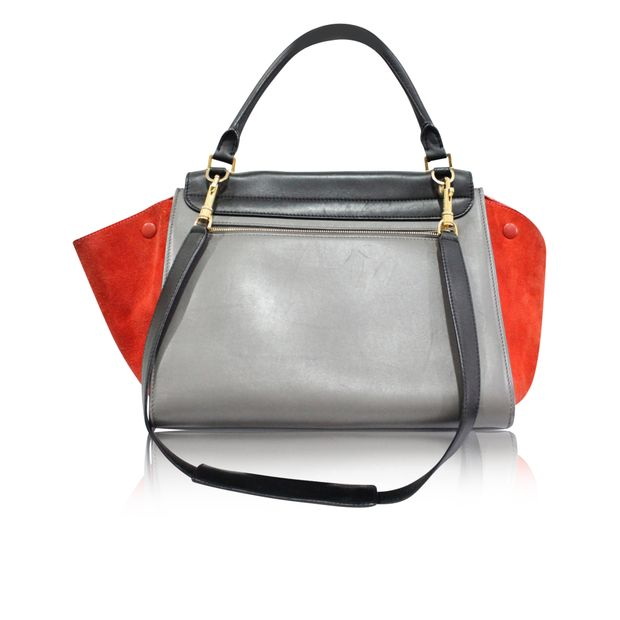 283ad2a82bbc1 Trapeze Medium in Tricolor Suede Wings by CELINE   StyleTribute.com
