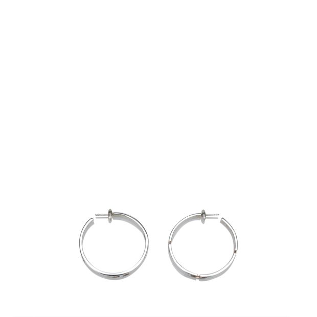 8a70086bd43 GUCCI G Cutout Silver Hoop Earrings 0 thumbnail
