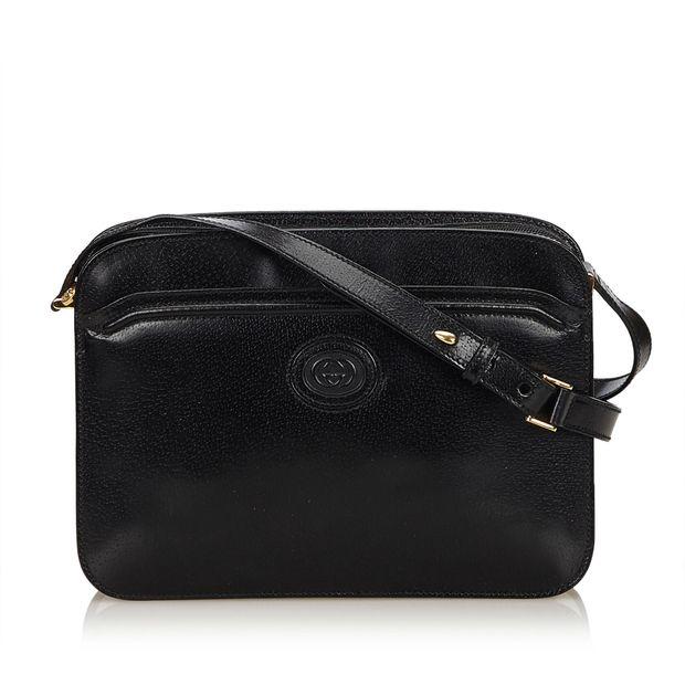 6b55d8139b8 Leather Crossbody Bag by GUCCI
