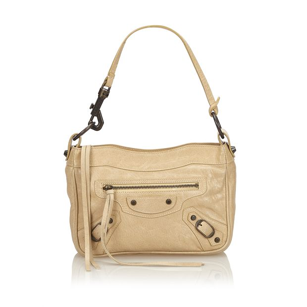 c3817dde66 Motocross Leather Handbag by BALENCIAGA