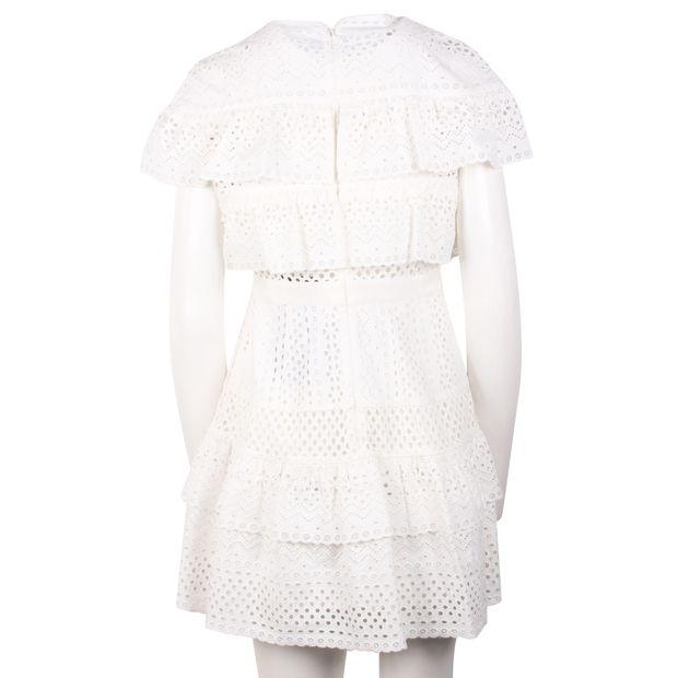 92316c149e3bd Guipure Lace Mini White Dress by SELF-PORTRAIT | StyleTribute.com