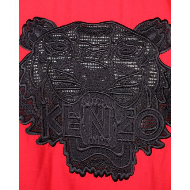2236c571 Black and Red Tiger Sweater by KENZO | StyleTribute.com