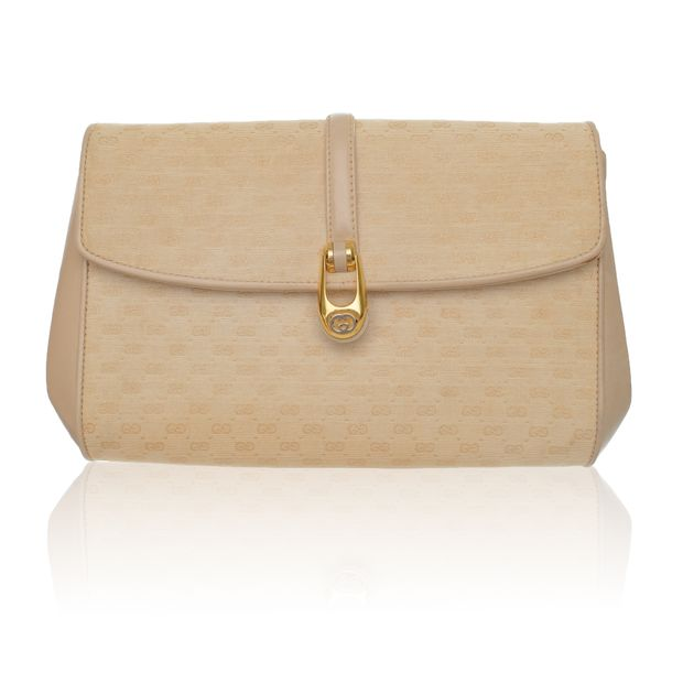 b73bdfcb376 Vintage Beige Monogram Clutch by GUCCI