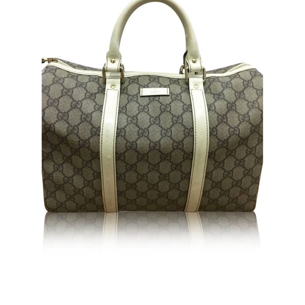 092a94de2af07f Joy Boston Bag GG Coated Canvas Medium by GUCCI | StyleTribute.com