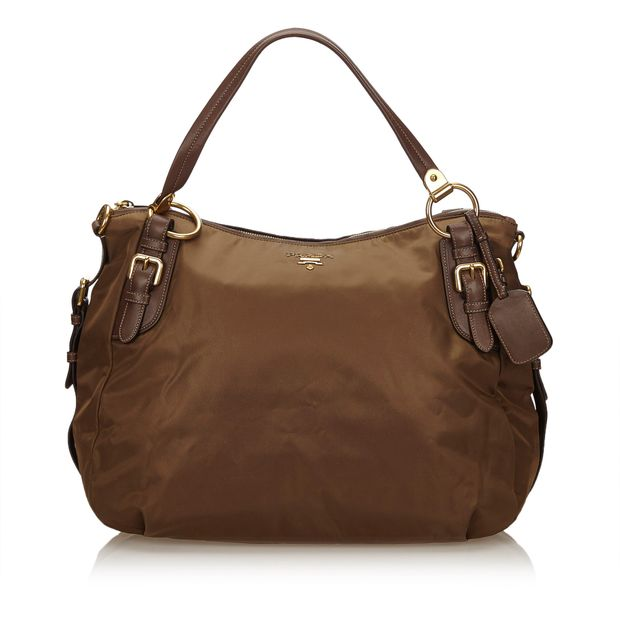 d349af55aab8 Tessuto Nappa Shoulder Bag by PRADA | StyleTribute.com
