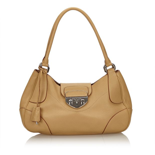 bfd1b9d4891101 Leather Shoulder Bag by PRADA | StyleTribute.com
