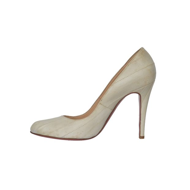 c8fe0696dc67 Croc Embossed Classic White Pumps by CHRISTIAN LOUBOUTIN ...