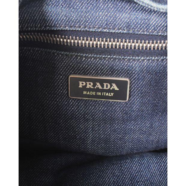 finest selection a8dff 830fa Blue Denim Hand Bag With Large Belt Strap