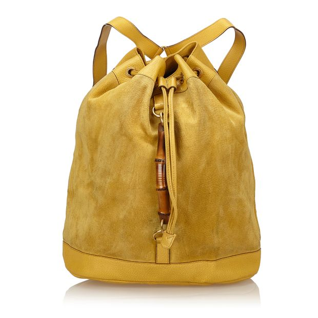 1fd03f22107 Bamboo Suede Backpack by GUCCI