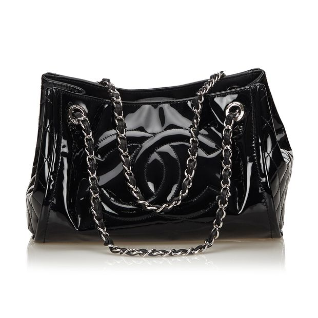 b4c9ba8973d9 Matelasse Patent Leather Chain Shoulder Bag by CHANEL