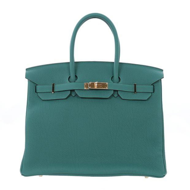 9b09d61dcbb Malachite Togo 35cm Birkin Bag by HERMÈS