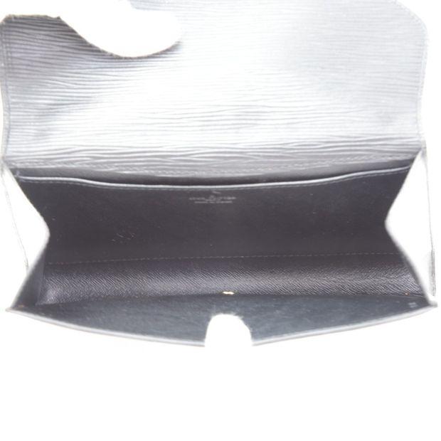 20630090bd416 LOUIS VUITTON Art Deco PM Black Epi Leather Clutch Pouch Bag 4 thumbnail
