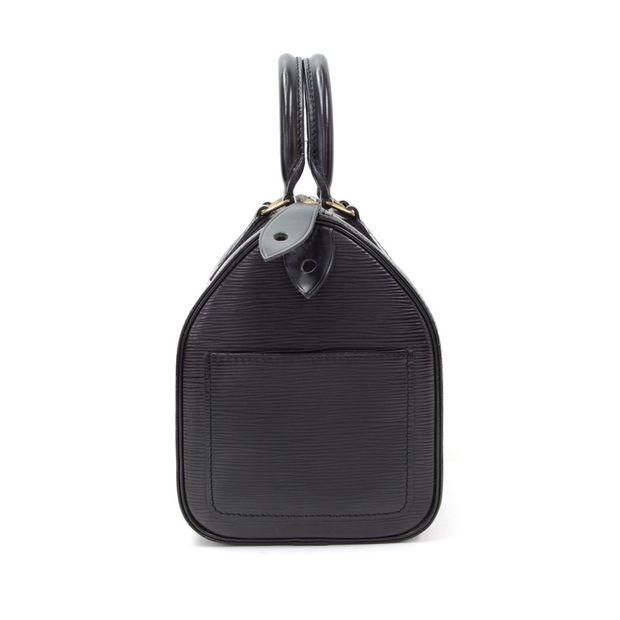 d933498ec876 LOUIS VUITTON Speedy 30 Black Epi Leather City Hand Bag 3 thumbnail