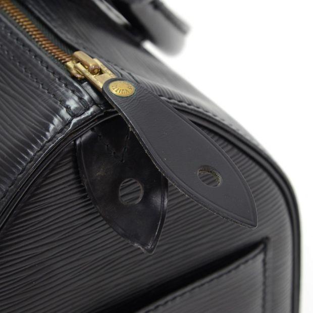 2d98c7a3657b LOUIS VUITTON Speedy 30 Black Epi Leather City Hand Bag 9 thumbnail