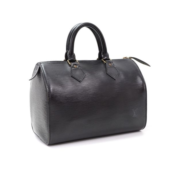 4696b8487285 LOUIS VUITTON Speedy 30 Black Epi Leather City Hand Bag 1 thumbnail