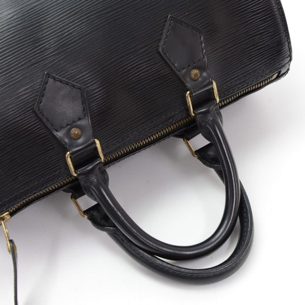 61f81667cf5e LOUIS VUITTON Speedy 30 Black Epi Leather City Hand Bag 10 thumbnail