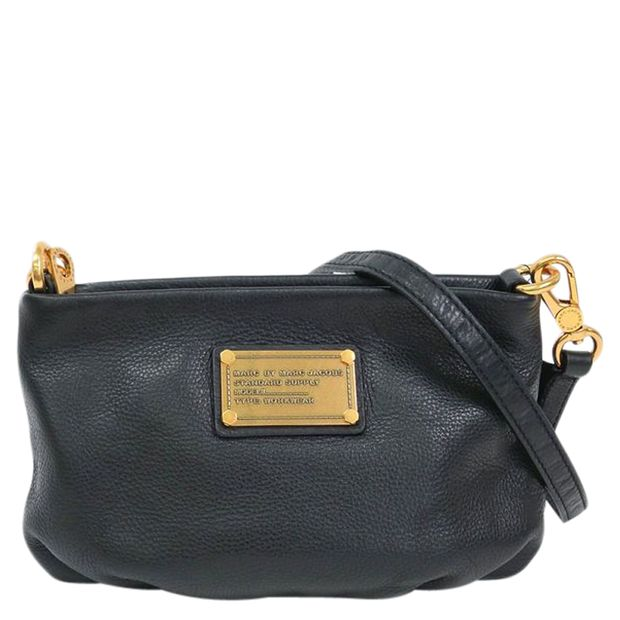 560675bce Black Leather Classic Q Percy Crossbody Bag by MARC BY MARC JACOBS ...