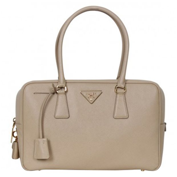 bd1cbd386b51 Beige Sabbia Saffiano Lux Leather Executive Tote Bag by PRADA ...