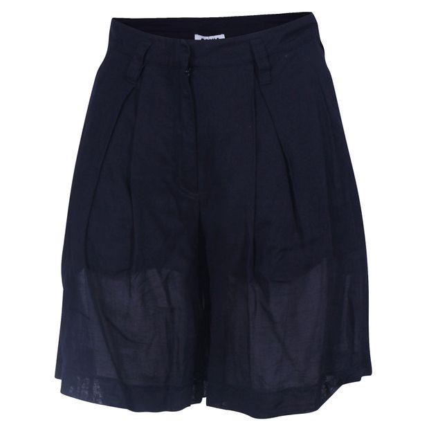 9380d35aa7a Navy Blue Double Lined Cotton Bermuda Shorts by SONIA RYKIEL ...