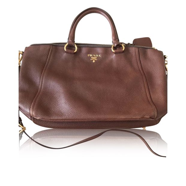 291e271a23f8 PRADA Brown Shoulder And Sling Bag 0 thumbnail