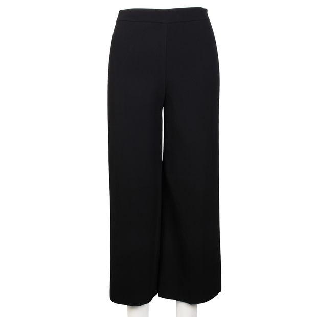 853d1771436 Flynn Wide Leg Cropped Trousers by REISS | StyleTribute.com