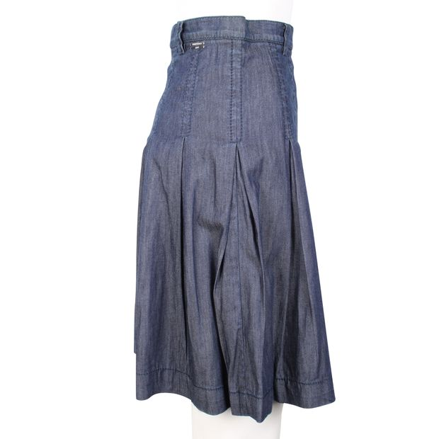 Pleated Demin Skirts