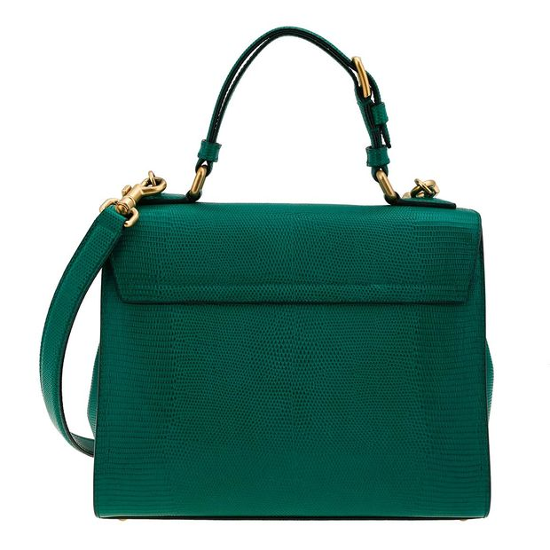 70543064bb7 DOLCE & GABBANA Dolce & Gabbana Green Lizard Embossed Leather Large Monica  Bag 1 thumbnail
