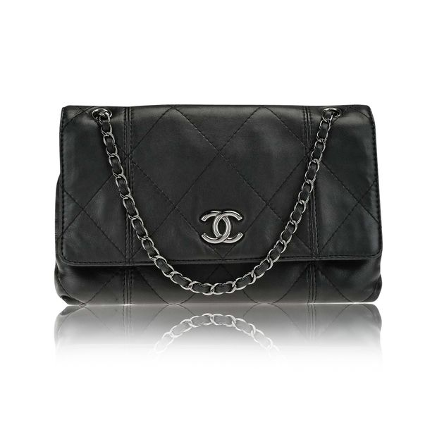 ecc100ccbf7d Chanel Black Quilted Lambskin Leather Soft Touch Flap Bag by CHANEL ...