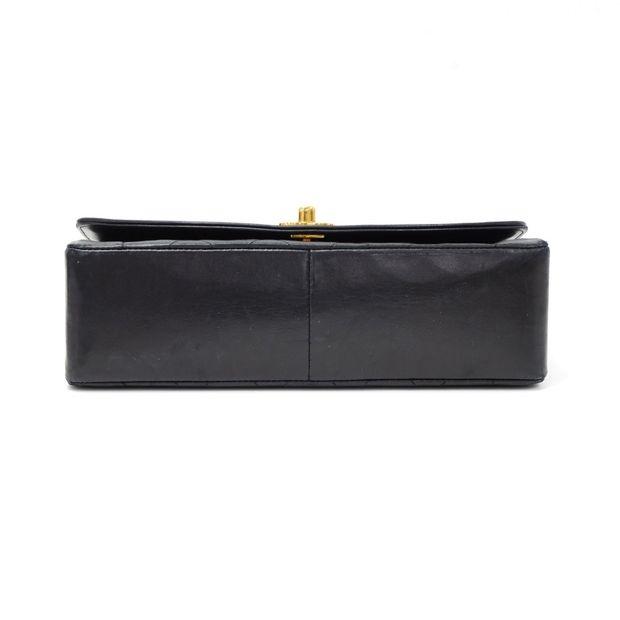 22db72fbf1dd CHANEL Vintage 10 Diana Classic Black Quilted Leather Shoulder Flap Bag ...