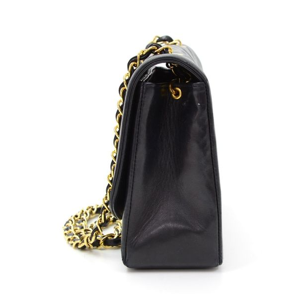 157a4f128b339f CHANEL Vintage 10 Diana Classic Black Quilted Leather Shoulder Flap Bag 3  thumbnail