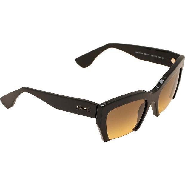 ae6dc8a88 Black Cut-Off Sunglasses by MIU MIU   StyleTribute.com