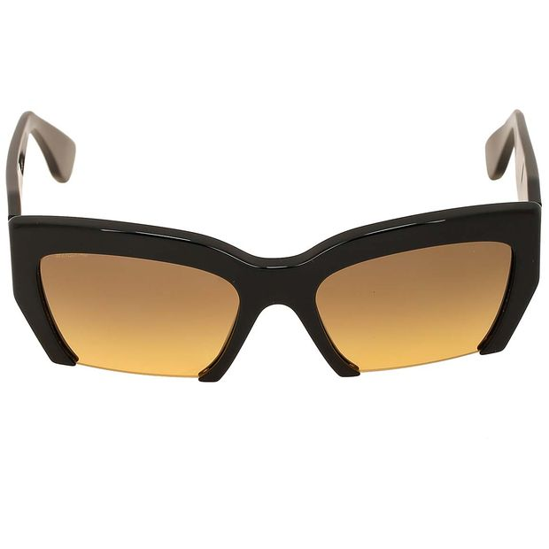 5aea2cb924dd Black Cut-Off Sunglasses by MIU MIU