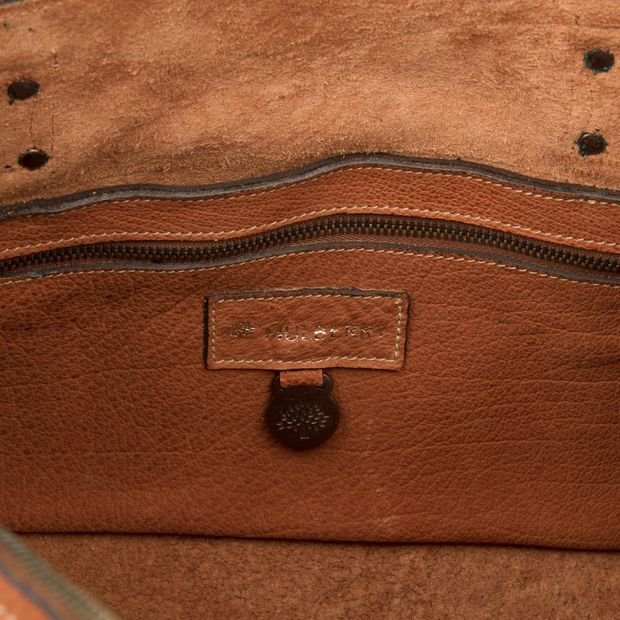 Tan Leather Small Clipper Holdall by MULBERRY  35b2f223ae6d3
