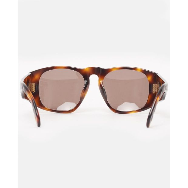 266dc1303c8e CHANEL Vintage tortoiseshell quilted arm sunglasses 4 thumbnail