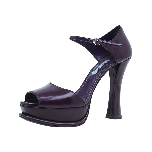 67d18ba6f1b Leather Ankle Strap Platform Sandals by PRADA