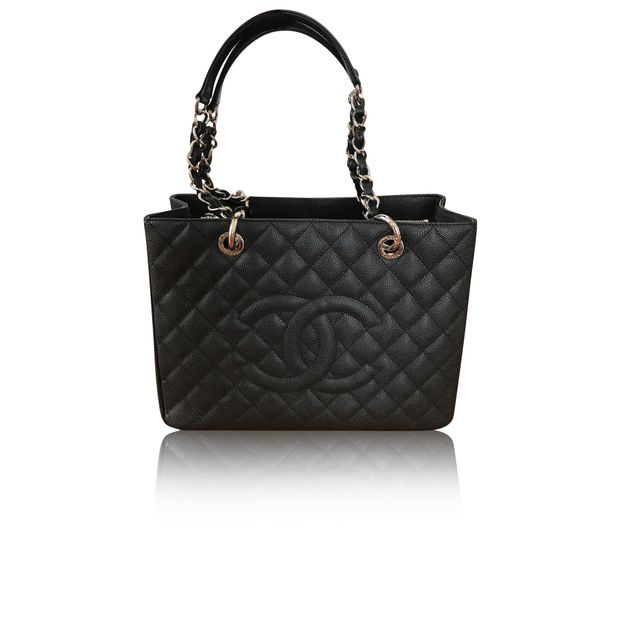 5e0caf66e227 CHANEL Black Caviar Grand Shopping Tote by CHANEL | StyleTribute.com