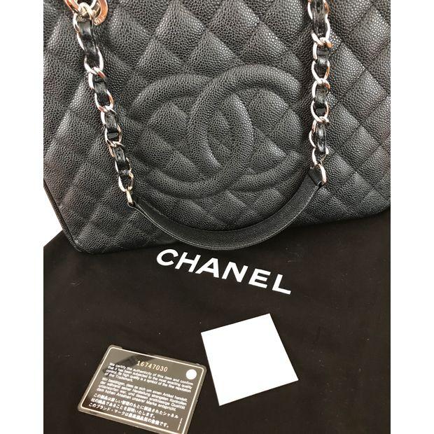 a42a3478f0cb CHANEL Black Caviar Grand Shopping Tote by CHANEL | StyleTribute.com
